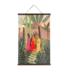 JUNGLE BRIGHTS LINEN WALL DECOR