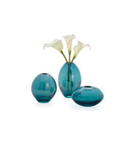 Torre Tagus MINI LUSTRE ASSORTED GLASS VASES, TEAL