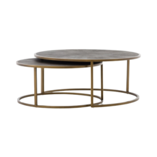 Four Hands CHAGRIN NESTING COFFEE TABLE