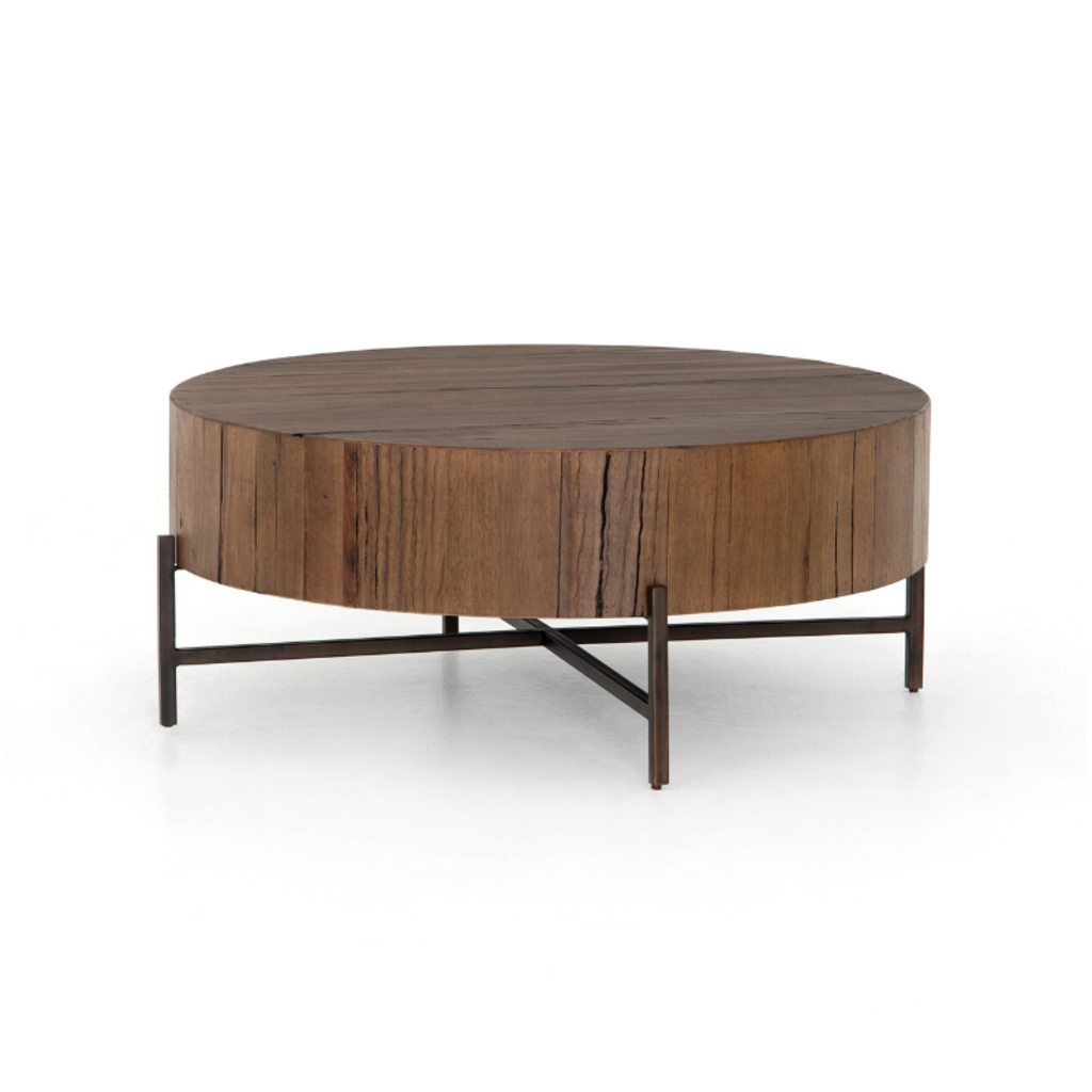 Four Hands TINSLEY COFFEE TABLE, NATURAL BROWN