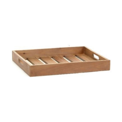 WOODEN TRAY, LARGE