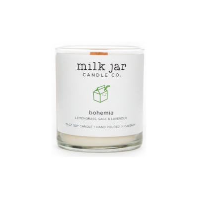 Milk Jar Candle Company Inc. MILK JAR CANDLE, BOHEMIA