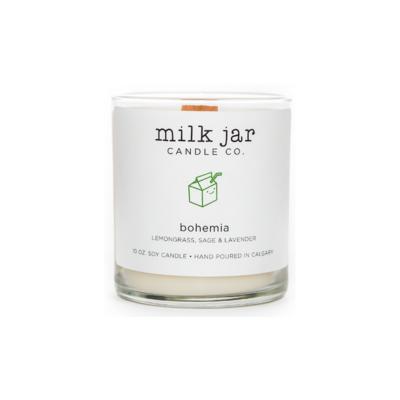 Milk Jar Candle Company Inc. MILK JAR CANDLE, BOHEMIA