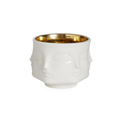 Jonathan Adler JA MUSE BOWL, WHITE WITH GOLD