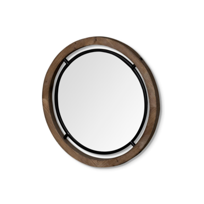 JOSI WOOD AND METAL MIRROR, 24""
