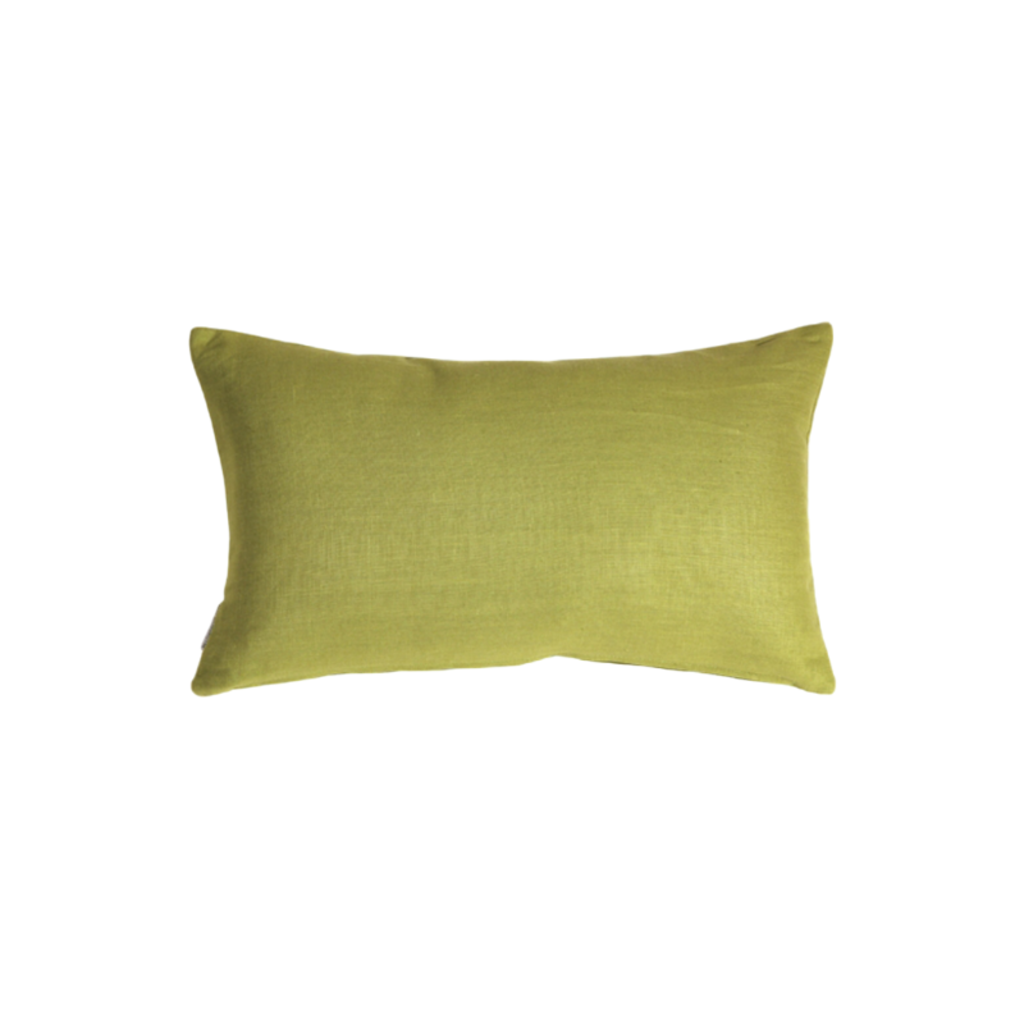 Pillow Decor APPLE GREEN LINEN PILLOW