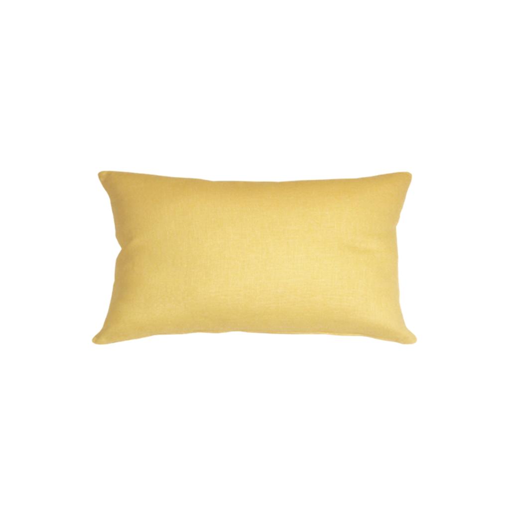 """Pillow Decor YELLOW LINEN PILLOW, 12"""" x 20"""""""