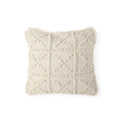 "ROLY WOOL PILLOW, 18"" X 18"""