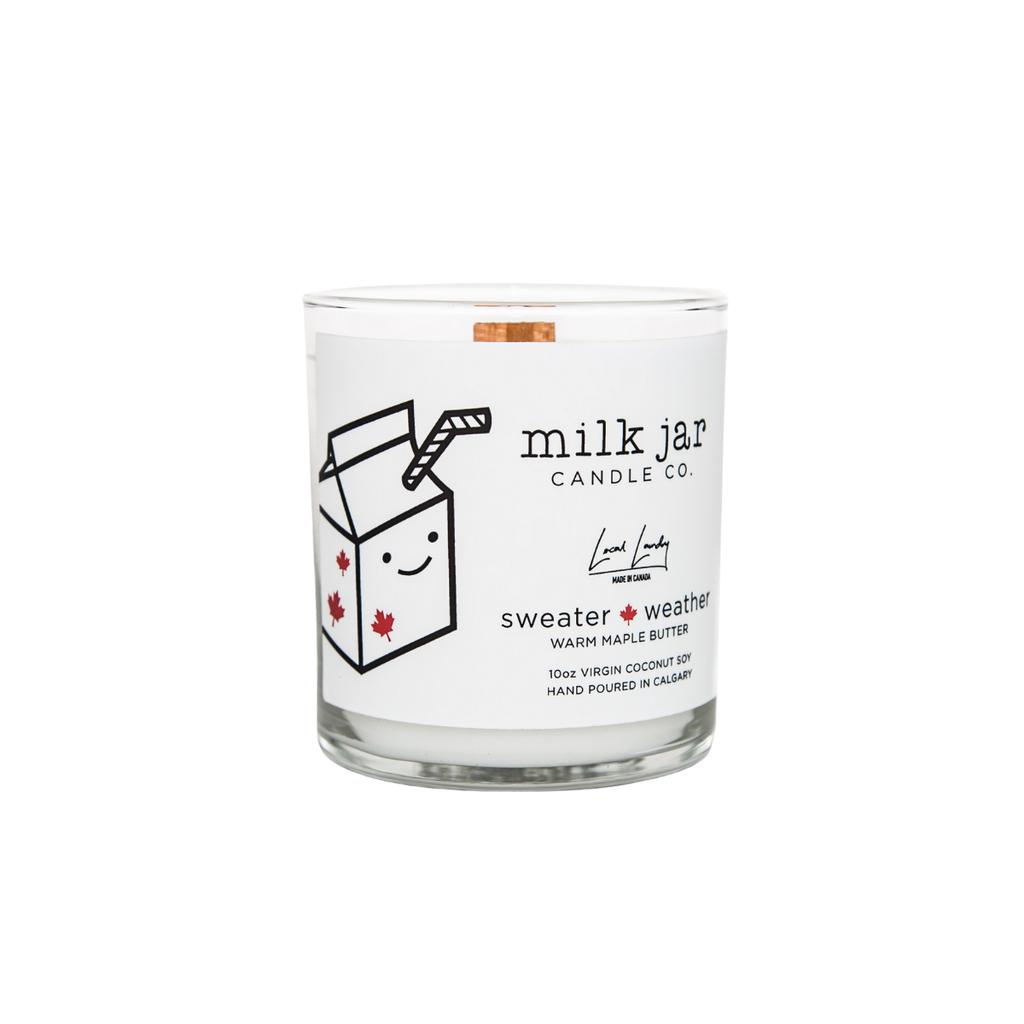 Milk Jar Candle Company Inc. MILK JAR CANDLE, SWEATER WEATHER