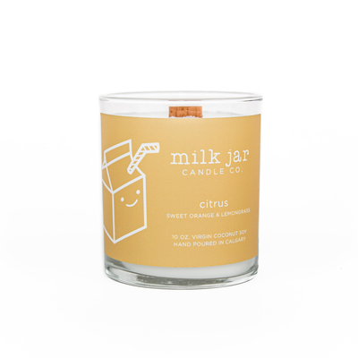 Milk Jar Candle Company Inc. MILK JAR CANDLE, CITRUS ESSENTIAL OIL
