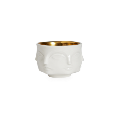 Jonathan Adler JA MUSE VOTIVE HOLDER, WHITE WITH GOLD