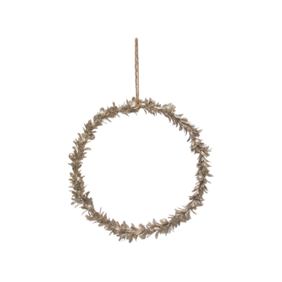 Creative Coop GOLD FINISH WREATH, LARGE
