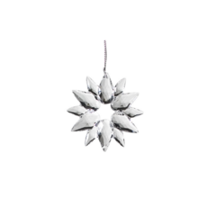 CLEAR SNOWFLAKE ORNAMENT, SMALL