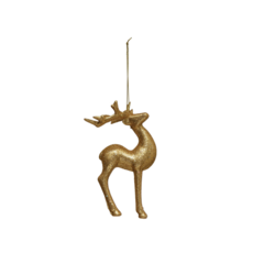 Creative Coop DEER ORNAMENT WITH GLITTER
