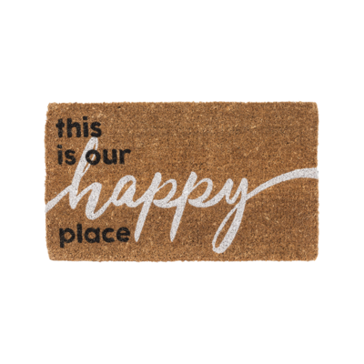 THIS IS OUR HAPPY PLACE DOORMAT