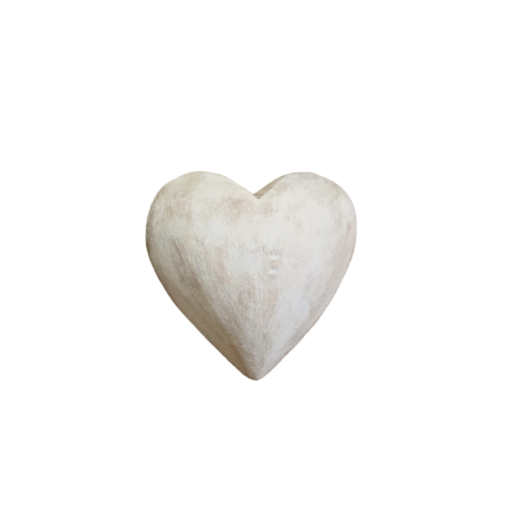 SugarBoo CARVED WOODEN HEART