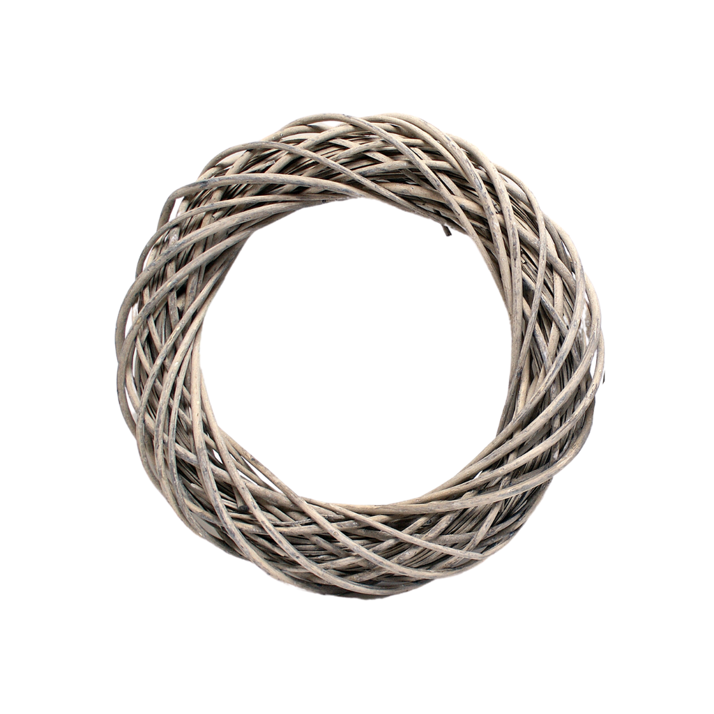 Botanico WOVEN WILLOW WREATH, GREY WASH, 20""