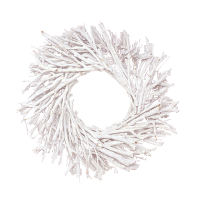 Botanico TEA TREE WREATH, WHITE WASH, 28""