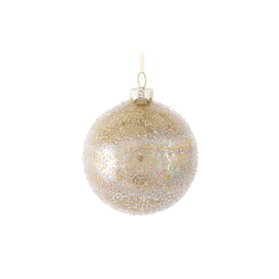 GOLD PEBBLED BALL ORNAMENT