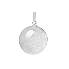 BALL ORNAMENT WITH GLASS THREADS