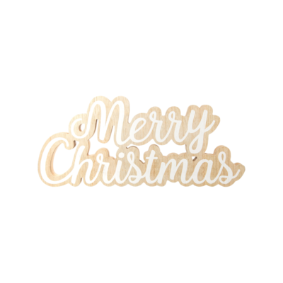 Option 2 Silver Tree (Group One) WOODEN MERRY CHRISTMAS SIGN