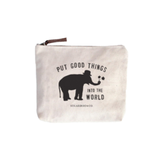 SugarBoo CANVAS ZIP BAG, PUT GOOD THINGS INTO THE WORLD