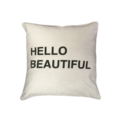 SugarBoo HELLO BEAUTIFUL PILLOW