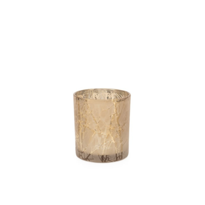 """Torre Tagus BRANCH SILHOUETTE ETCHED HURRICANE VASE, 3 x 3"""""""