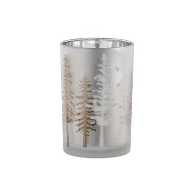 "Torre Tagus WOODLAND GLASS HURRICANE VASE, 4.5 x 7"""