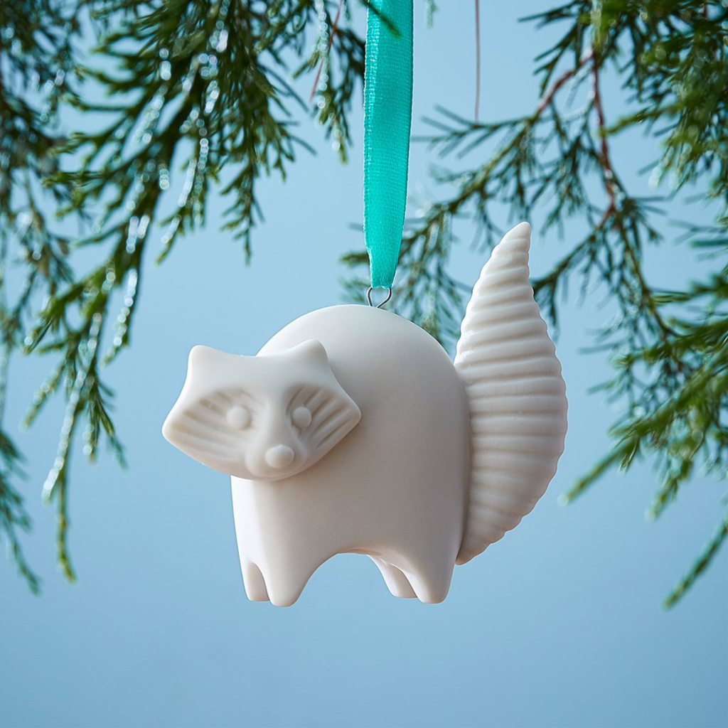 Jonathan Adler JA RACCOON ORNAMENT, WHITE