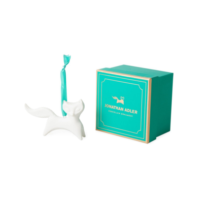 Jonathan Adler JA FOX ORNAMENT, WHITE