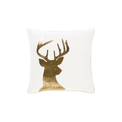 Surya (RSC Inc.) GOLD STAG PILLOW, METALLIC