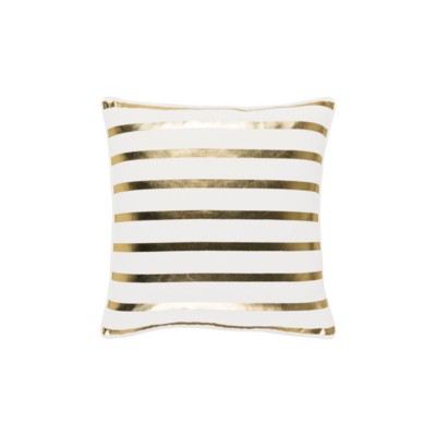 Surya (RSC Inc.) GOLD METALLIC STRIPE PILLOW