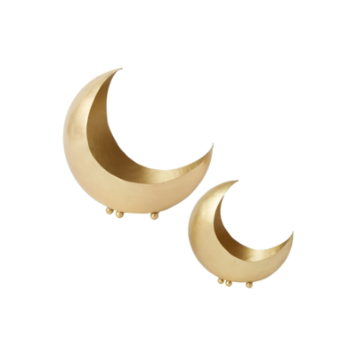 SHADOW MOON BRASS PLANTER, SMALL