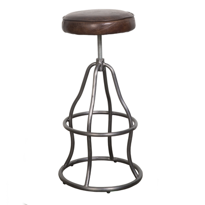 DAVY COUNTER/BAR STOOL, BROWN LEATHER