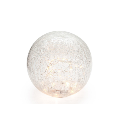Torre Tagus CRACKLE GLASS LED SPHERE, 6""