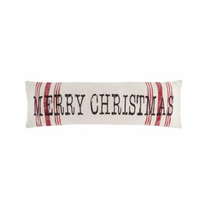 Mud Pie MERRY CHRISTMAS LONG PILLOW