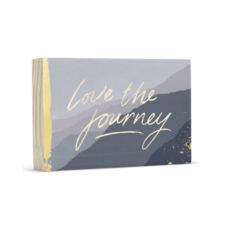 Design Home LOVE THE JOURNEY, WOOD WALL ART