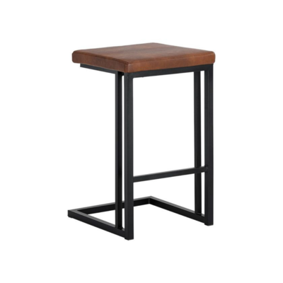 HOVER COUNTER STOOL, COGNAC