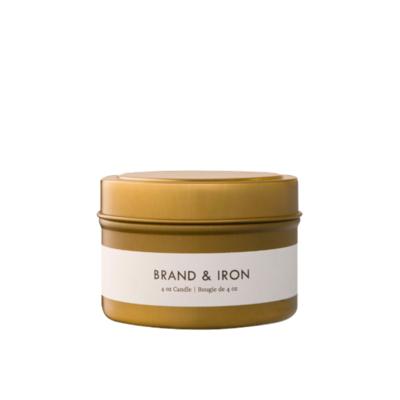Brand & Iron BRAND & IRON TOBACCO + VANILLA CANDLE, TIN , 4OZ
