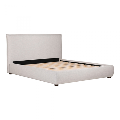 LUZON KING BED, LIGHT GREY