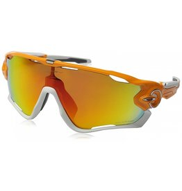 Oakley Jawbreaker Atomic Orange w/ Fire Iridium Polarized Lenses