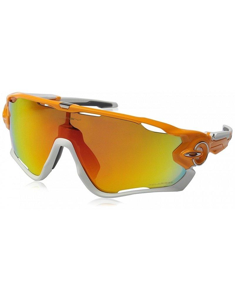 Oakley Jawbreaker Atomic Orange w/ Fire Iridium Polarized Lenses