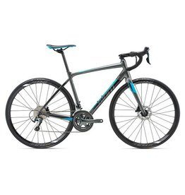 Giant Contend SL 2 Disc, Charcoal/Black/Blue, Small