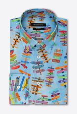 Bugatchi Bugatchi Sky Signs L/S Shaped Fit Shirt