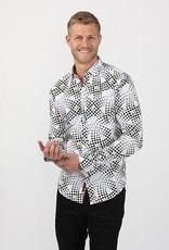 Eight X Orange Dot Print Long Sleeve Shirt