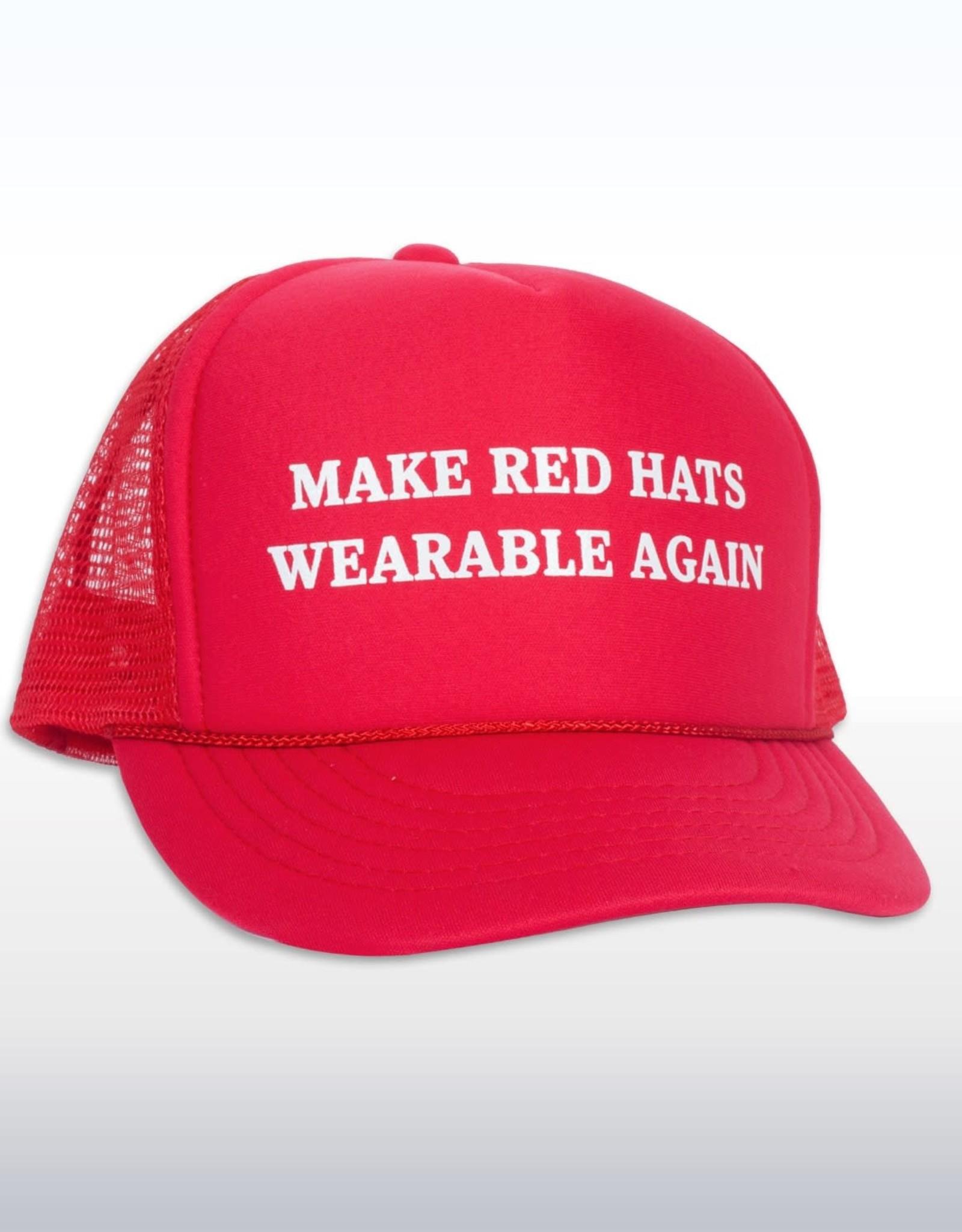 Headline Make Red Hats Wearable Again Cap