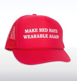Headline Make Red Hats Wearable Again Cap