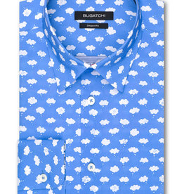 Bugatchi Shaped Fit Blue Clouds LS Shirt
