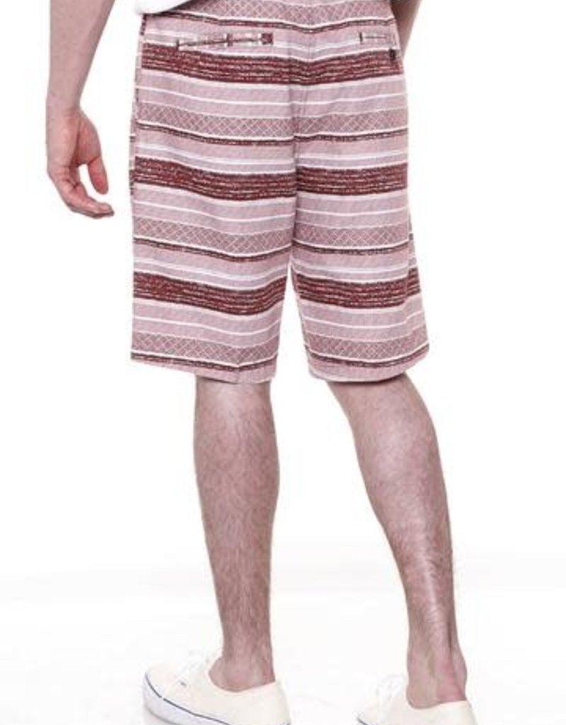 "Micros Burgandy ""On Time"" Shorts"